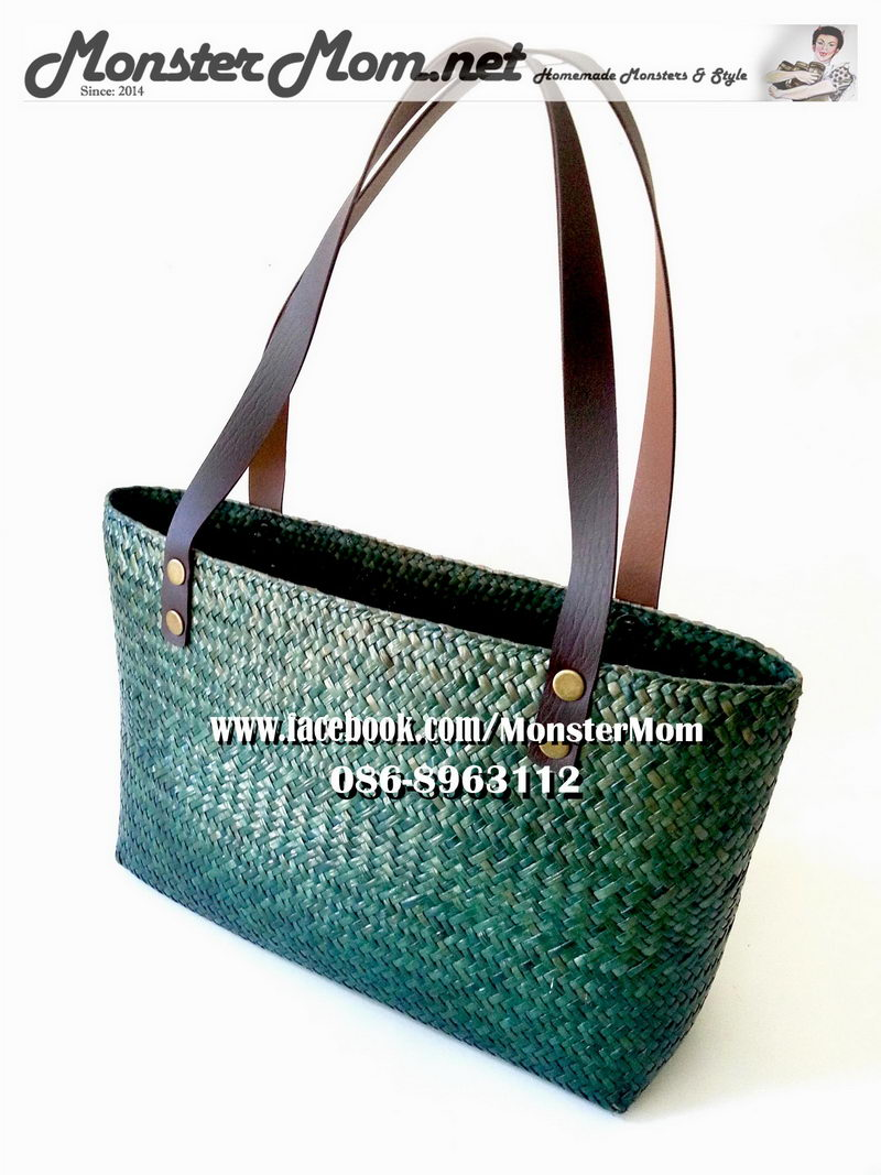 green-hand-woven-bulrushes-bag