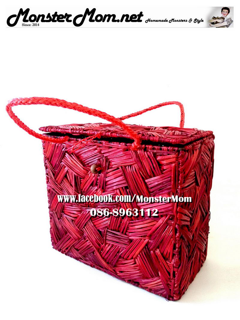red-water-hyacinth-wicker-box-shape-bag